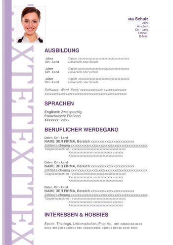 lebenslauf-muster-uberzeugend-violett
